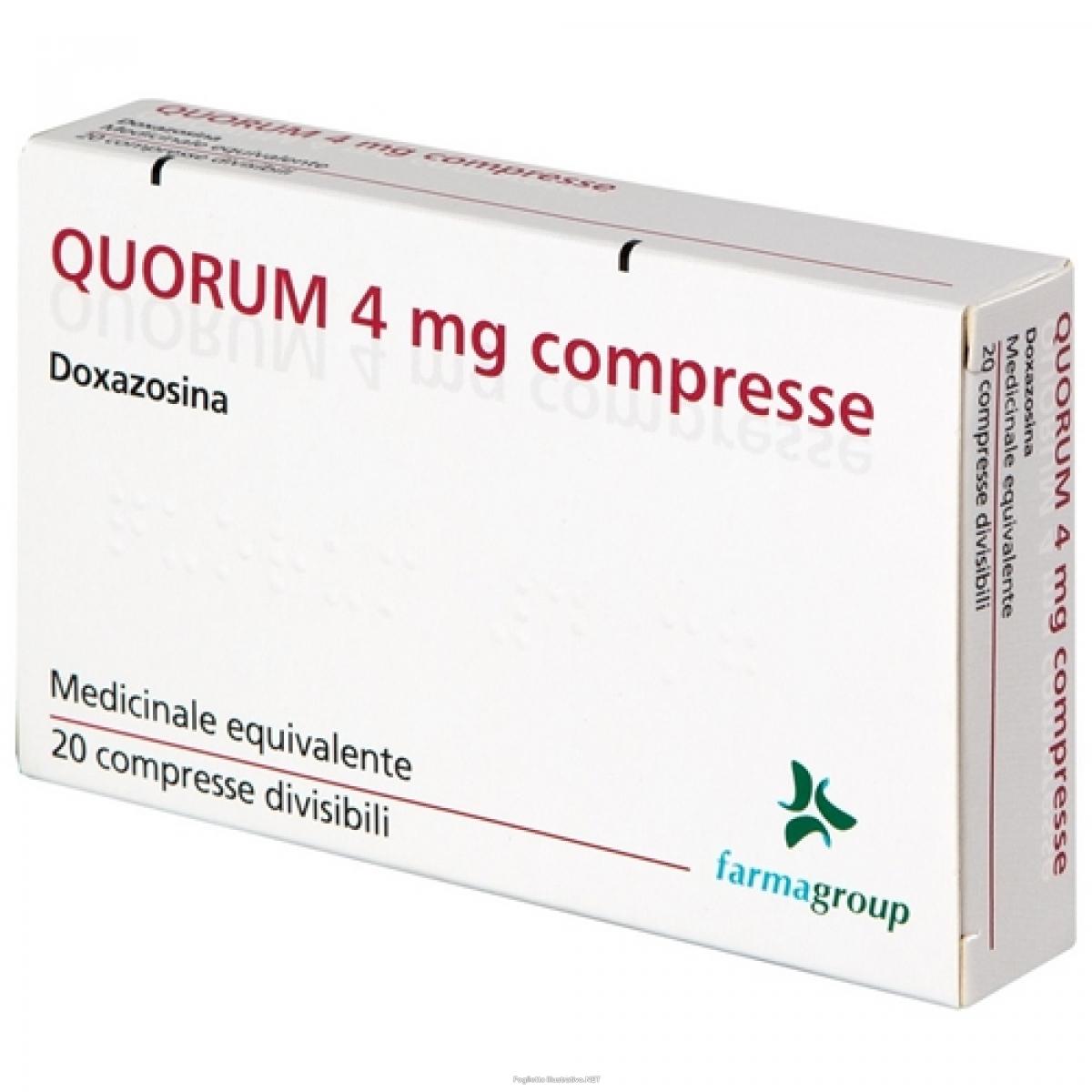quorum 20 compresse div 4mg bugiardino cod: 037927023