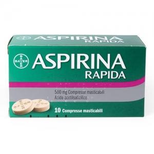 aspirina rapida 10cprmast500mg bugiardino cod: 004763379