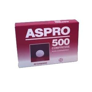 aspro 500 20 compresse 500mg bugiardino cod: 001363074