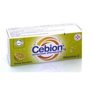 cebion*10cpr eff 1g s/zucchero bugiardino cod: 003366200