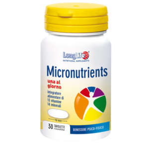 Cerca Offerte di longlife micronutrients 30 tavolette e acquista online