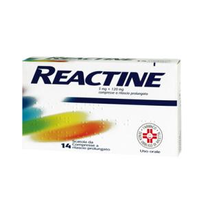 reactine 14 compresse 5mg+120mg a rilascio prolungato