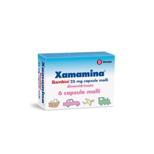 xamamina bb 6 capsule 25mg bugiardino cod: 002955108